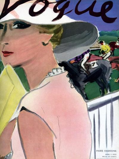 "Vogue Cover - April 1933-Carl ""Eric"" Erickson-Premium Giclee Print"