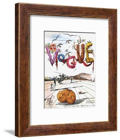 Vogue Cover - April 1944 - Dali's Surealist Vogue-Salvador Dalí-Framed Premium Giclee Print