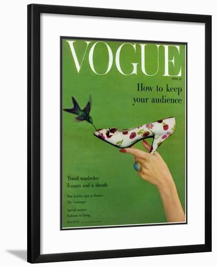 Vogue Cover - April 1957-Richard Rutledge-Framed Giclee Print