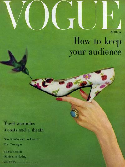 Vogue Cover - April 1957-Richard Rutledge-Premium Giclee Print