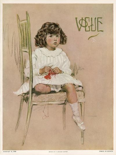 Vogue Cover - August 1910-F. Graham Cootes-Premium Giclee Print