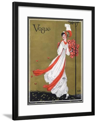 Vogue Cover - August 1911-George Wolfe Plank-Framed Giclee Print