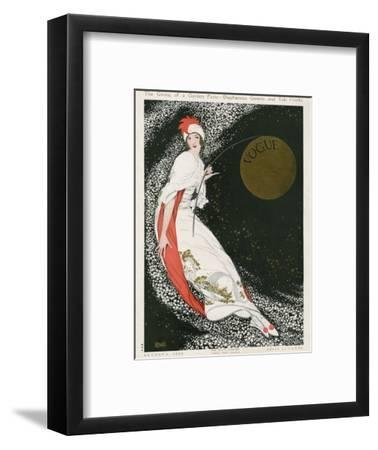 Vogue Cover - August 1912 - Moon Goddess-George Wolfe Plank-Framed Premium Giclee Print