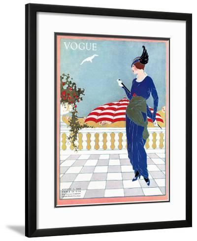 Vogue Cover - August 1913-Will Hammell-Framed Giclee Print
