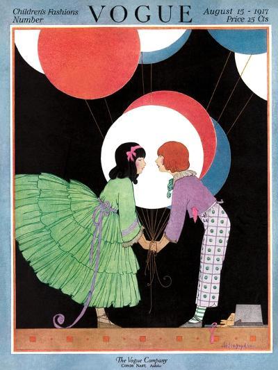 Vogue Cover - August 1917-Helen Dryden-Premium Giclee Print