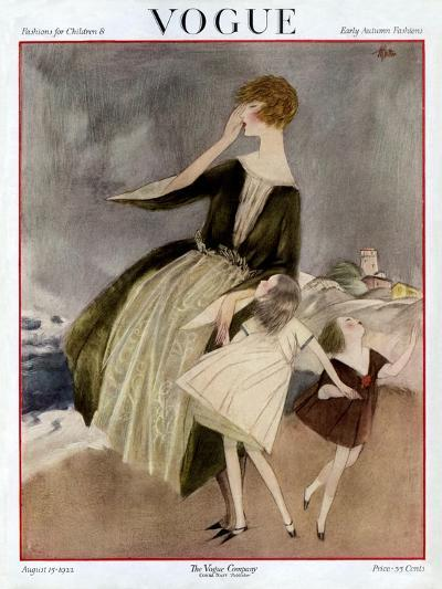 Vogue Cover - August 1922-Henry R. Sutter-Premium Giclee Print