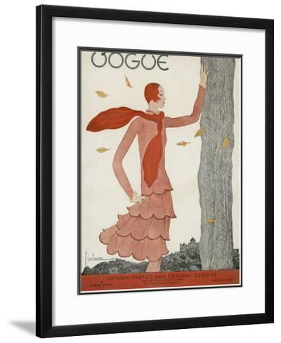 Vogue Cover - August 1929-Georges Lepape-Framed Giclee Print