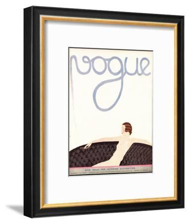 Vogue Cover - August 1930-André E. Marty-Framed Premium Giclee Print