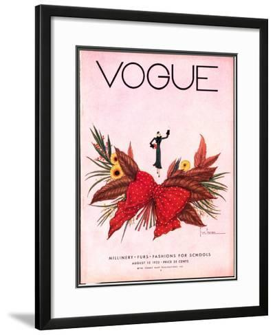 Vogue Cover - August 1932-Georges Lepape-Framed Giclee Print