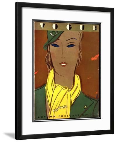 Vogue Cover - August 1933-Eduardo Garcia Benito-Framed Giclee Print