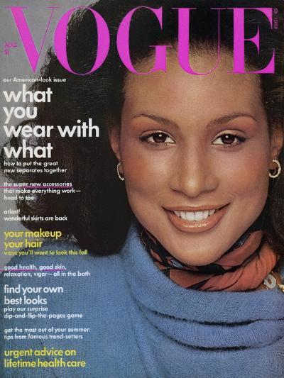 Vogue Cover - August 1974-Francesco Scavullo-Premium Giclee Print