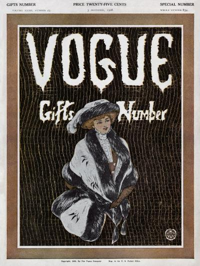 Vogue Cover - December 1908--Premium Giclee Print