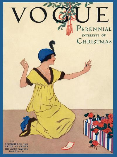 Vogue Cover - December 1911-George Wolfe Plank-Premium Giclee Print