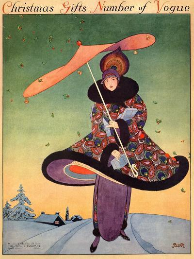 Vogue Cover - December 1913-George Wolfe Plank-Premium Giclee Print