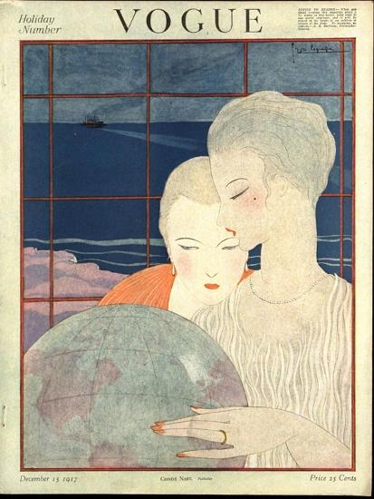 Vogue Cover - December 1917-Georges Lepape-Premium Giclee Print