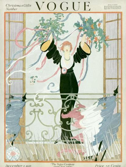 Vogue Cover - December 1918-Helen Dryden-Premium Giclee Print