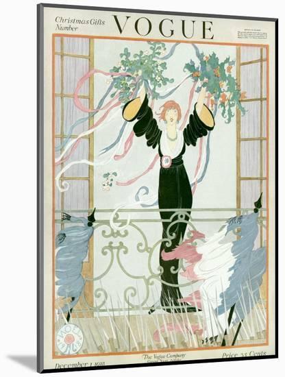 Vogue Cover - December 1918-Helen Dryden-Mounted Premium Giclee Print