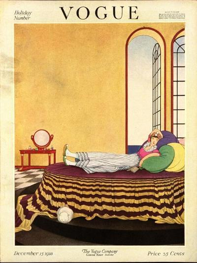 Vogue Cover - December 1918-George Wolfe Plank-Premium Giclee Print