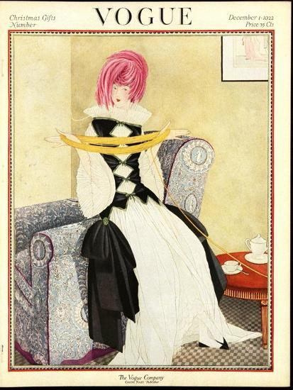 Vogue Cover December 1922 Premium Giclee Print By George