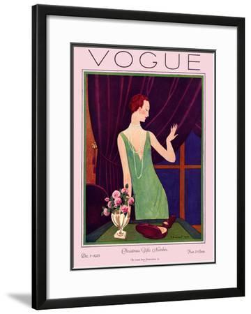 Vogue Cover - December 1925-Pierre Brissaud-Framed Giclee Print