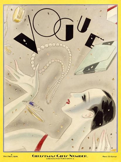 Vogue Cover - December 1926-William Bolin-Premium Giclee Print