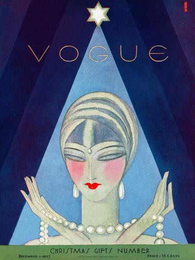 Vogue Cover - December 1927-Eduardo Garcia Benito-Premium Giclee Print