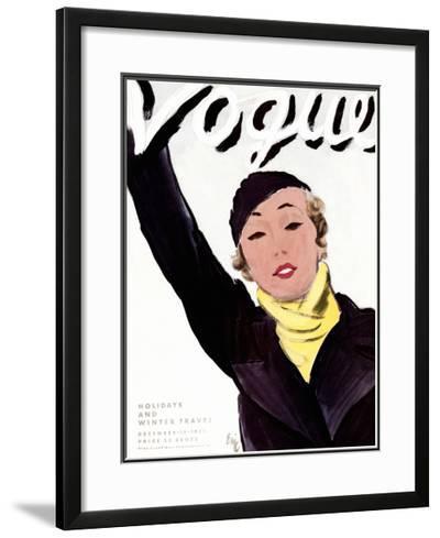 "Vogue Cover - December 1932-Carl ""Eric"" Erickson-Framed Giclee Print"