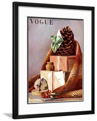 Vogue Cover - December 1936-Pierre Roy-Framed Giclee Print