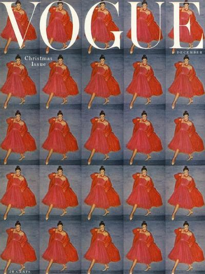 Vogue Cover - December 1954-Clifford Coffin-Premium Giclee Print