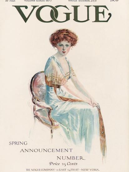 Vogue Cover - February 1909-Jean Parke-Premium Giclee Print