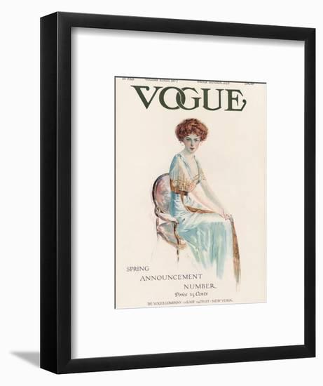 Vogue Cover - February 1909-Jean Parke-Framed Premium Giclee Print