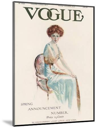 Vogue Cover - February 1909-Jean Parke-Mounted Premium Giclee Print