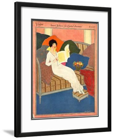 Vogue Cover - February 1913-Helen Dryden-Framed Giclee Print