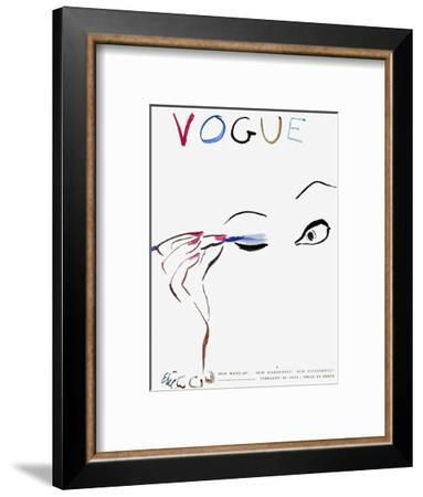 "Vogue Cover - February 1935 - All Dolled Up-Carl ""Eric"" Erickson-Framed Premium Giclee Print"