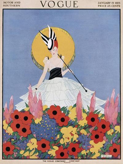 Vogue Cover - January 1915-Margaret B. Bull-Premium Giclee Print