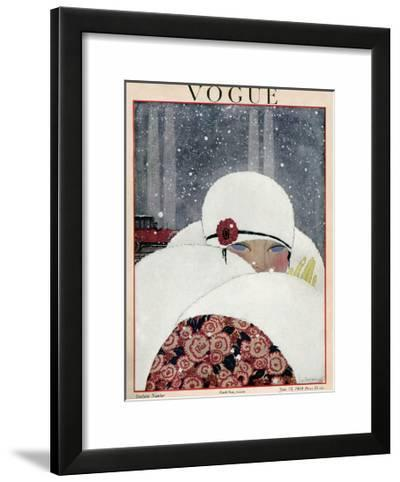 Vogue Cover - January 1919-Georges Lepape-Framed Art Print