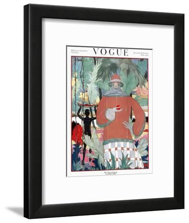 Vogue Cover - January 1920-Georges Lepape-Framed Premium Giclee Print
