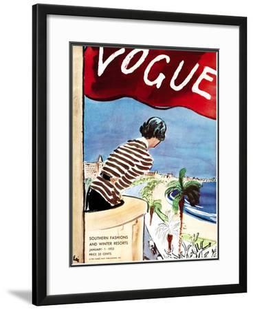 "Vogue Cover - January 1932-Carl ""Eric"" Erickson-Framed Giclee Print"
