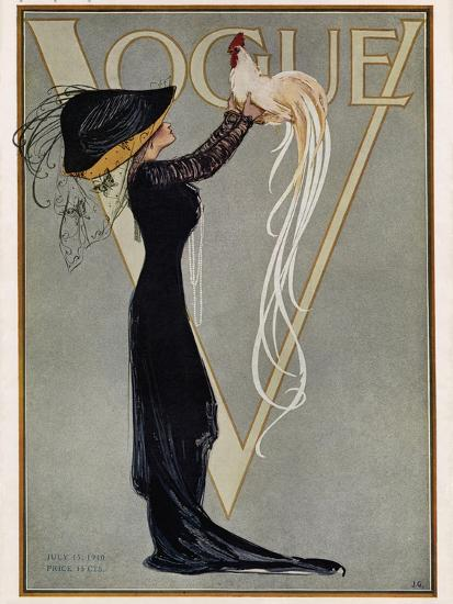 Vogue Cover - July 1910--Premium Giclee Print