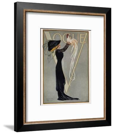 Vogue Cover - July 1910--Framed Premium Giclee Print
