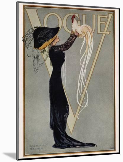 Vogue Cover - July 1910-null-Mounted Premium Giclee Print
