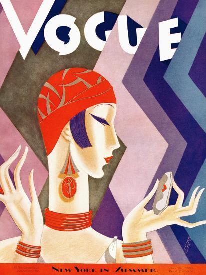 Vogue Cover - July 1926 - Fashion Zig Zag-Eduardo Garcia Benito-Premium Giclee Print