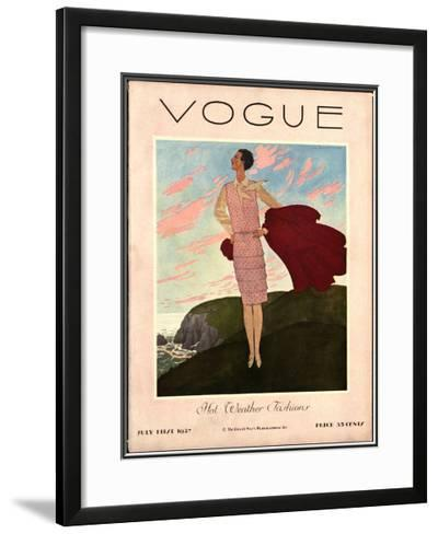 Vogue Cover - July 1927-Pierre Brissaud-Framed Giclee Print