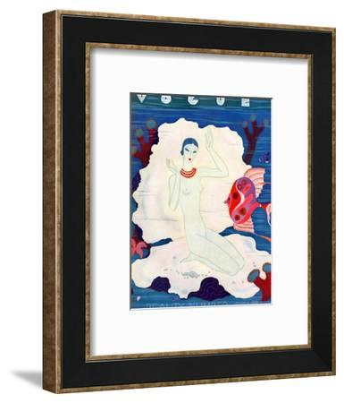 Vogue Cover - July 1933-Eduardo Garcia Benito-Framed Premium Giclee Print