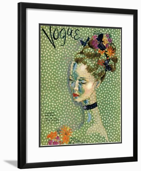 Vogue Cover - July 1935-Cecil Beaton-Framed Giclee Print