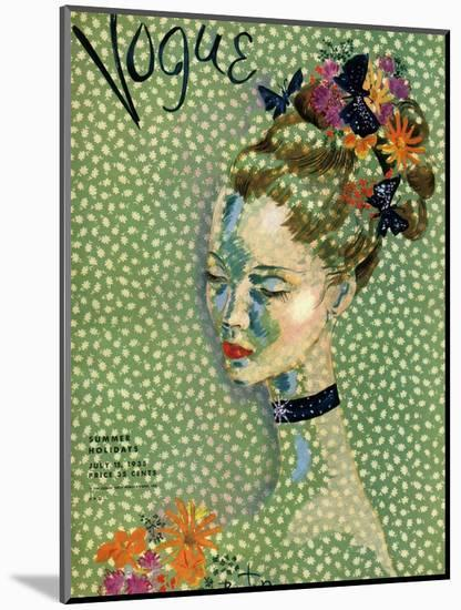 Vogue Cover - July 1935-Cecil Beaton-Mounted Premium Giclee Print