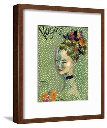 Vogue Cover - July 1935-Cecil Beaton-Framed Premium Giclee Print