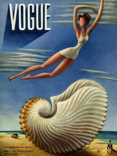 Vogue Cover - July 1937 - Surreal Shell-Miguel Covarrubias-Premium Giclee Print