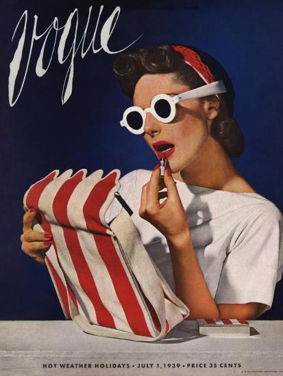 Vogue Cover - July 1939 - Lipstick, Quick!-Horst P. Horst-Premium Giclee Print