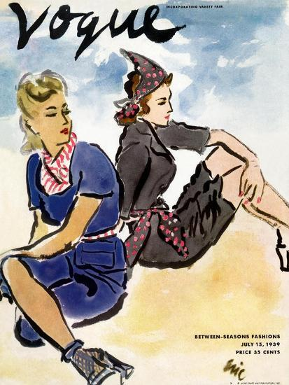 "Vogue Cover - July 1939-Carl ""Eric"" Erickson-Premium Giclee Print"